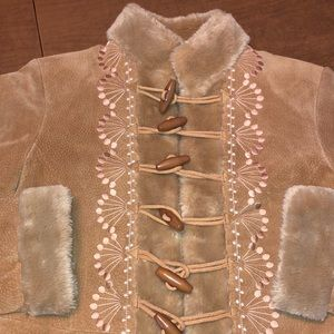 BAGATELLE Embroidered Suede Leather Jacket Coat 6